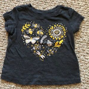 Old navy bee butterfly and flower tee